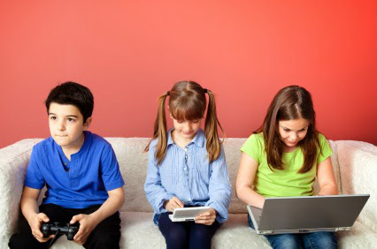 children not exercising, video games